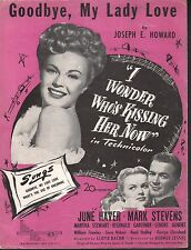 Goodbye My Lady Love June Haver I Wonder Who's Kissing Her Now