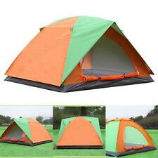 4 Persons Family Double Layer Camping Outdoor Hiking Large Tent 4 Man Waterproof
