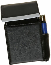 BLACK Cigarette Hard Case Leather Flip Top Lighter Holder Unisex