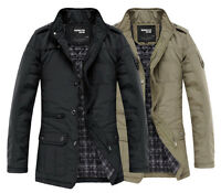 K1031 Men's Jacket Coat Slim Clothes Winter Warm Overcoat Casual Outerwear Warm