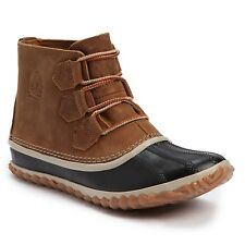 NEW! SOREL Out N About Leather Waterproof Boots Shoes $110, Sz 6.5