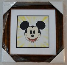 """DISNEY """"HERE'S MICKEY"""" SERICEL PROFESSIONALLY MATTED AND FRAMED W/COA NIB"""