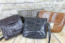 Job Lot Wholesale 4 X Vintage Italian Leather Shoulder Bags Handbag Resale Gifts