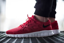 NIKE FREE RUN 2 Running Trainers Shoes Gym Casual Suede UK 7 (EUR 41) Uni Red
