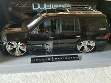 Jada Toys DUB City Big Ballers 1 18 Lincoln Navigator Black Model Car In Box