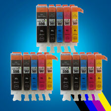 15 Chiped Ink Cartridge For PGI550 CLI551 Canon Pixma iP7250 MG5450 6350 MX925 2