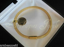 PURE MAGNETIC MESH ATTRACTION BRACELET 18cm. 9ct GOLD PLATED STAINLESS STEEL