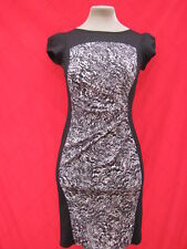 Billie & Blossom Black Animal Print illusion Hourglass dress 8 10 Funky