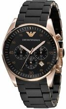 EMPORIO ARMANI AR5905 EXECUTIVE BLACK CHRONOGRAPH MENS WATCH