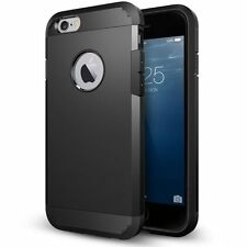 Luxury Armor Case for iPhone 6S 6 Slim Back Cover Black + 1pcs. Screen Protector