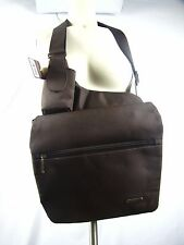 Travelon Brown Cross Body Hip Bag Anti Theft Handbag Nylon New