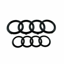 1 Set High Quality Black Matt Front & Rear Audi Rings Emblem Badge for Q3 Q5 Q7