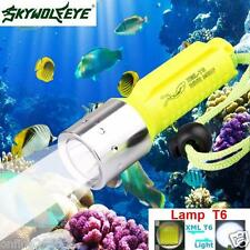 Zoom 3500LM XM-L T6 LED Underwater 130M Scuba Diving Flashlight Torch Lamp Light