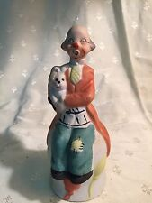 Vintage Price Ceramic Clown Bell in Muted Colors 5 1/2 Inches Tall