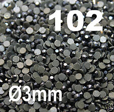 iron-on 250 Strass thermocollant RHINESTONE hotfix Ø 3 mm ss10  NOIR N° 102