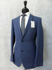Men's Blue Slim Fit Occasions 2 Piece Suit 38R W32 L29 CC1927