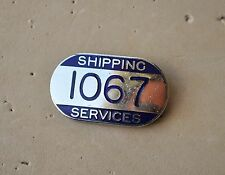 Shipping Services Pin badge boat ship liner workers lapel dockworker ?