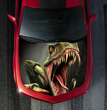 H28 RAPTOR DINOSAUR Hood Wrap Wraps Decal Sticker Tint Vinyl Image Graphic