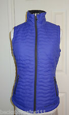 New Free Country Womens Lightweight Reversible Puffer Fleece Vest Purple Small S