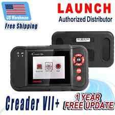 Launch Creader VII+ OBD2 OBD Code Reader Diagnostic Tool Transmission Airbag ABS