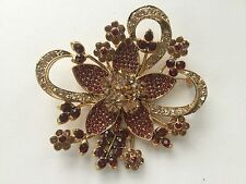 AVON 2006 35TH ANNIVERSARY FLOWER RHINESTONE MOGUL COSTUME BROOCH PIN