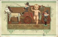 Nestle Kindermehl - Baby in Toy Stagecoach - Art Deco c1910 Postcard