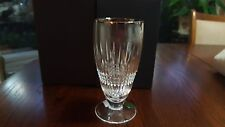 WATERFORD CRYSTAL QTY (2) LISMORE DIAMOND PLATINUM ICED BEVERAGE # 163715 NIB