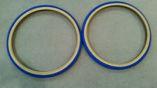 2 NEW DURO BICYCLE TIRES BLUE  GUMWALL 24X1.75.  50 PSI,COMP 3 MX3 TYPE
