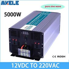 5000W DC12V to AC220V Pure Sine Wave Off grid Power Inverter LED Display