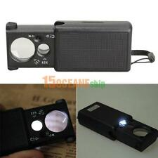portable LED Glass LED Light Magnifying Magnifier Jeweler Eye Jewelry Loupe Loop