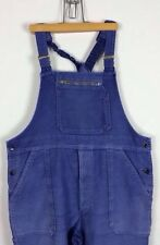 Vtg 40s French Moleskin Work Wear Chore Dungarees Worker Hobo Peasant