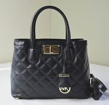 Michael Kors Black Quilted Leather Hannah Small Satchel