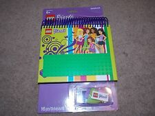 LEGO - FRIENDS ( NOTEBOOK WITH STUD COVER ) BRAND NEW.