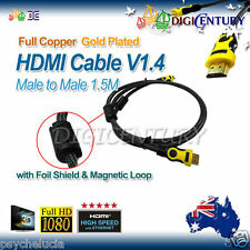 Full Copper HDMI Cable V1.4 3D HighSpeed with Foil Shield & Magnetic Loop 1.5m