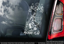 Machine Head - Car Window Sticker - Heavy Metal Thrash Rock Music Sign Art