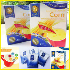 Lady Anna Instant Soup Cream of Corn Oriental style , 1 Box = 4 Sachets , No MSG