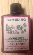 Aceite de Jugadores - Gambeling Oil - 1/2 oz -Santeria-Wicca-Paggan- Palo -