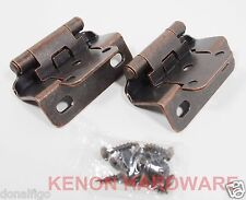 """Lot of 25 Pairs 50pcs Self Closing OVERLAY 1/2"""" Cabinet Hinge-Oil Brushed Bronze"""