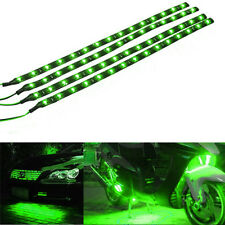 4x Green 30cm 15SMD LED Car Auto Waterproof Flexible Strip Light 12V Universal