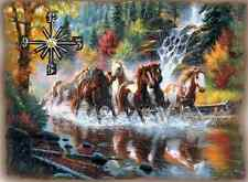 Running Horses wall clock   They make great gifts