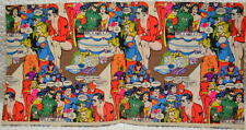 DC Comics WRAPPING PAPER 1980 Rare w Legion of Superheroes & Justice League