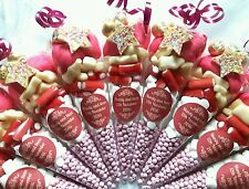 Pre filled large wedding favour sweetcones party bags PERSONALISED any colour