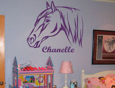 Personalized Your Name Horse Pony Home Removable Wall Stickers Decals Vinyl DIY