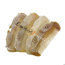Amber Ox horn Hair Comb No Static Health Care Combs Massage Antistatic Random