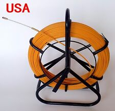 Fish Tape Fiberglass Wire Cable Running Rod Duct Rodder Fishtape Puller 4.5mm