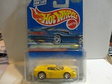 1999 Hot Wheels Treasure Hunt #933 Yellow Ferrari F512M in Protecto