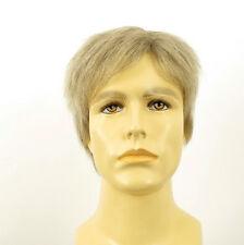 Perruque homme 100% cheveux naturel blanc méché gris PIERRE 51