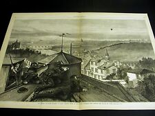 Paris Fort Izzy Notre Dame ARTIST SKETCHING PRUSSIAN FRONT 1870 Lg Print w STORY