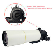"90MM F/5.5 2"" Refractor Astronomy Telescope OTA Double Speed for Photograph Best"