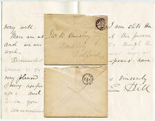GB QV CAMBRIDGE ST JOHNS COLLEGE LETTERHEAD SIGNED E.HILL to HOUSLEY 1886